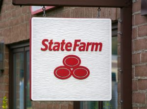 State Farm Insurance Sign and Logo
